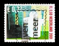 雪人, 12月盖印serie,大约2001年 库存图片