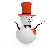 雪人, 3D 免版税库存照片