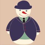 雪人绅士 免版税库存图片