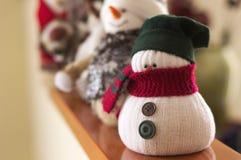 雪人-室内设计-圣诞节装饰 库存图片