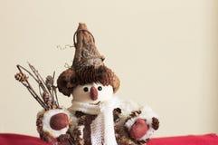 雪人-室内设计-圣诞节装饰 库存照片