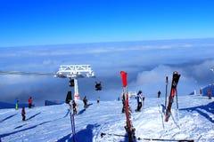 滑雪人 图库摄影