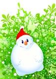 雪人xmas 向量例证