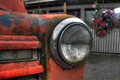 1955年雪佛兰卡车车灯 免版税库存照片