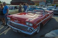 1958年雪佛兰因帕拉敞篷车 免版税库存照片