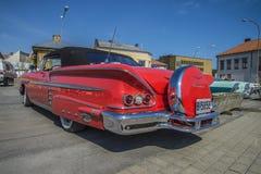 1958年雪佛兰因帕拉敞篷车 免版税库存图片