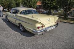 1958年雪佛兰因帕拉Hardtop小轿车,待售 图库摄影
