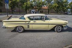 1958年雪佛兰因帕拉Hardtop小轿车,待售 库存图片