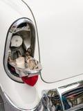 1956年雪佛兰气体补白门 库存图片