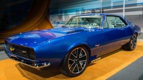 1967年雪佛兰表现Camaro热的轮子Spectraflame概念 免版税图库摄影