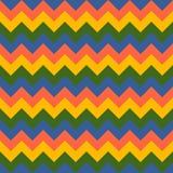 雪佛样式无缝传染媒介箭头几何设计五颜六色黄色桃红色青绿 库存照片