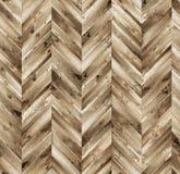 雪佛自然木条地板无缝的地板纹理 免版税库存图片