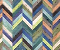 雪佛任意颜色自然木条地板无缝的地板纹理 免版税库存照片