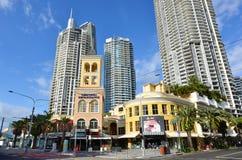 雪佛购物中心英属黄金海岸昆士兰澳大利亚 库存照片