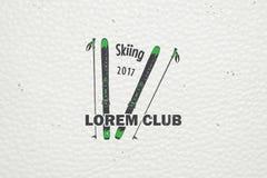 滑雪俱乐部队 山和室外冒险 库存图片