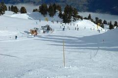 滑雪倾斜推力 免版税库存图片