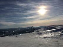 滑雪倾斜特吕西尔 免版税库存图片