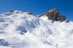 滑雪倾斜 库存图片