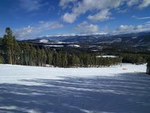 滑雪倾斜 免版税库存图片