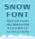 雪冬天字体 皇族释放例证