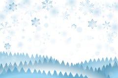雪冬天背景 皇族释放例证