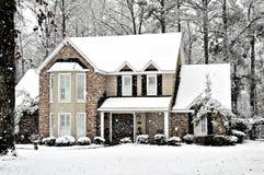 雪冬天 库存照片