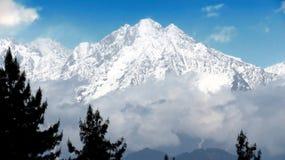 雪加盖的喜马拉雅山 免版税库存图片