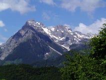 雪加盖的山黑山 免版税库存照片