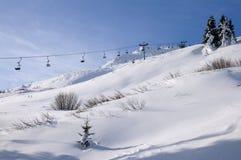 滑雪区域班斯科,保加利亚 库存照片