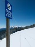 滑雪区域界限 库存照片
