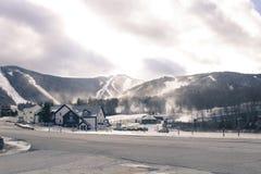 滑雪吊车 库存照片