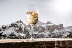 滑雪后的白云岩 免版税库存照片