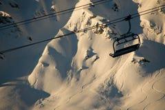 滑雪后 免版税库存照片