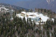 滑雪和两项竞赛复合体 图库摄影