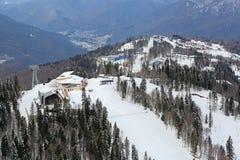 滑雪和两项竞赛复合体 免版税库存图片