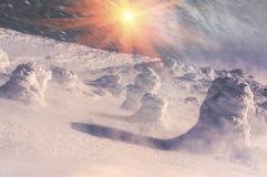 雪和冰毯子  免版税库存照片
