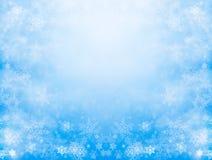 雪和薄雾 库存图片