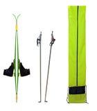 滑雪和起动 免版税库存图片