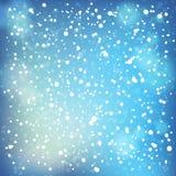 雪和软的聚焦背景。 库存图片
