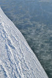 雪和结冰的水 背景 库存照片