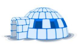 雪园屋顶的小屋,传染媒介例证 库存照片