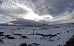 雪土地 库存图片
