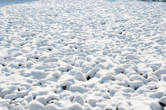 雪土墩 库存照片