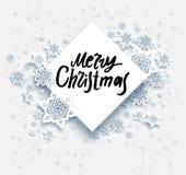 雪圣诞快乐 库存图片
