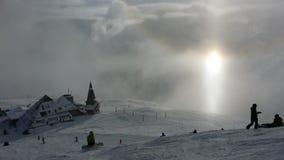 滑雪在一个美好的地点 库存图片
