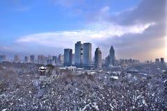 雪在乌鲁木齐 免版税图库摄影