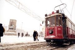 雪在伊斯坦布尔 免版税库存照片