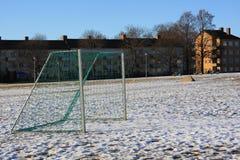 雪在公园 免版税库存图片