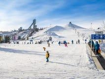 滑雪在加拿大奥林匹克公园 免版税库存照片