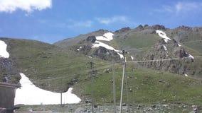 雪在夏天 免版税库存图片